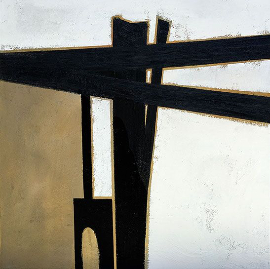 "Myke Reilly, ""Cathera"", 48""x48"", mixed media on canvas"