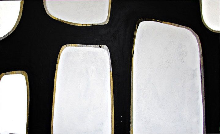 "Myke Reilly, ""Minopa #8"", 36""x60"", mixed media on canvas"