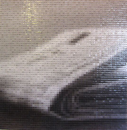 "Pamela Stretton, ""In Further News"", 48""x48"", reconstructed inkjet print on foam"