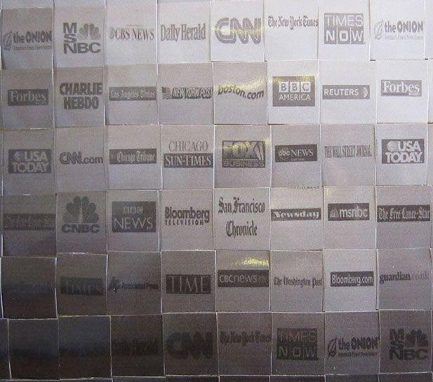 Pamela Stretton, detail of previous image, reconstructed inkjet print on foam
