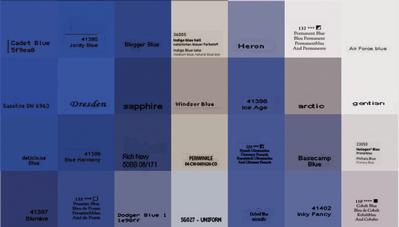 "Pamela Stretton, ""Blue"" (detail), reconstructed inkjet print on foam"