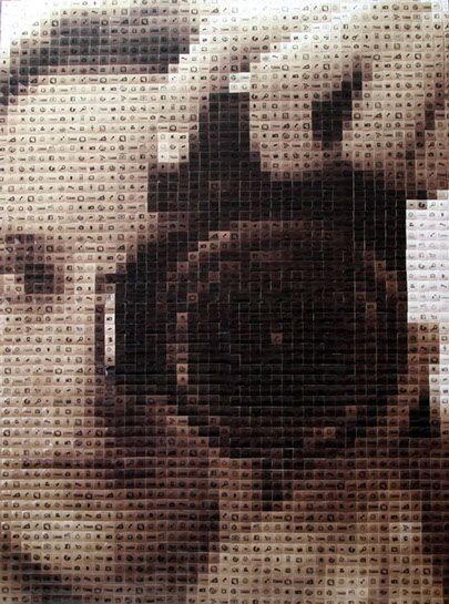 "Pamela Stretton, ""Scrutiny"", 48""x36"", reconstructed inkjet print on foam"