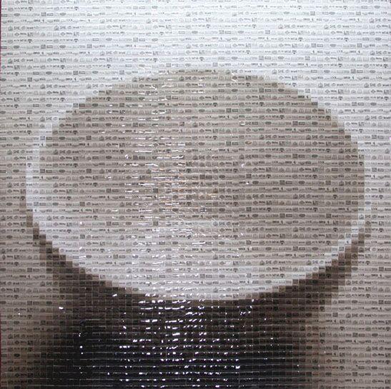 "Pamela Stretton, ""Diet Trend"", 48""x48"", reconstructed inkjet print on foam"