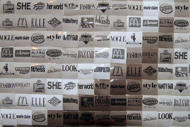 "Pamela Stretton, ""Diet Trend"" (detail), reconstructed inkjet print on foam"