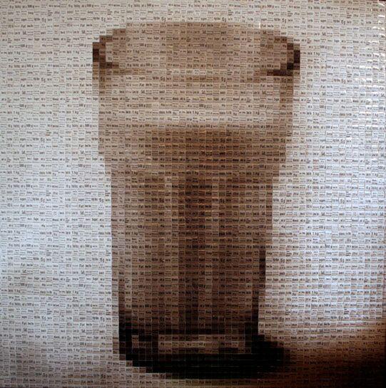 """Pamela Stretton, """"Fat Free"""", 48""""x48"""", reconstructed inkjet print on foam"""