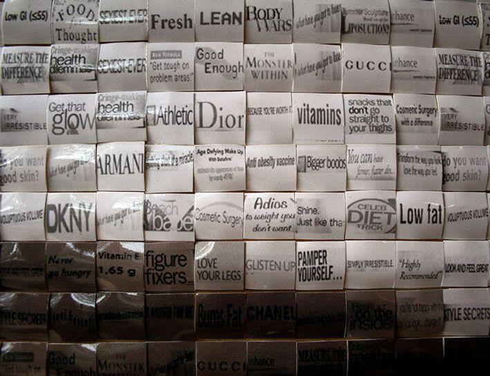 """Pamela Stretton, """"Consumed"""" (detail), reconstructed inkjet print on foam"""