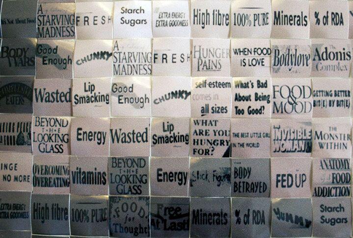"Pamela Stretton, ""Temptation"" (detail), reconstructed inkjet print on foam"