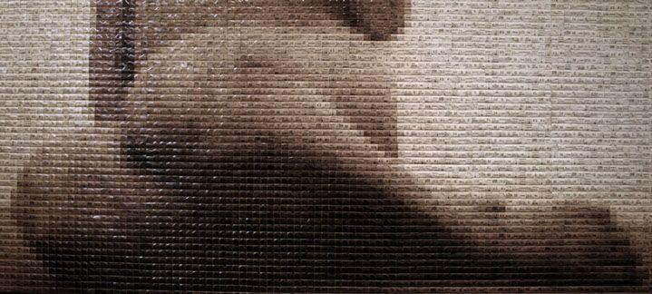"Pamela Stretton, ""Supernude"", 36""x60"", reconstructed inkjet print on foam"