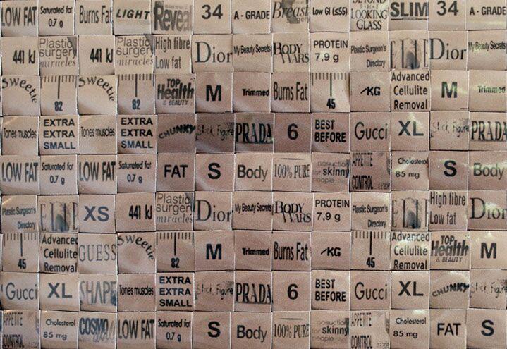 "Pamela Stretton, ""Supernude"" (detail), reconstructed inkjet print on foam"