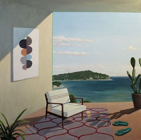 "Patrick St. Clair, ""Riviera"", 48""x48"", oil on canvas"
