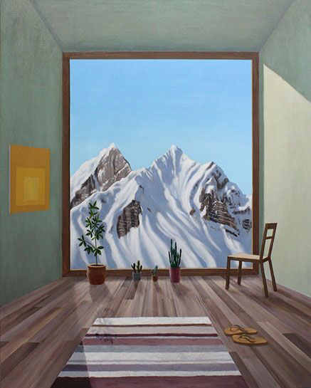 "Patrick St. Clair, ""Alpine Room"", 60""x48"", oil on canvas"