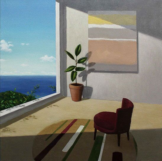 "Patrick St. Clair, ""Afternoon Light"", 24""x24"", oil on canvas"