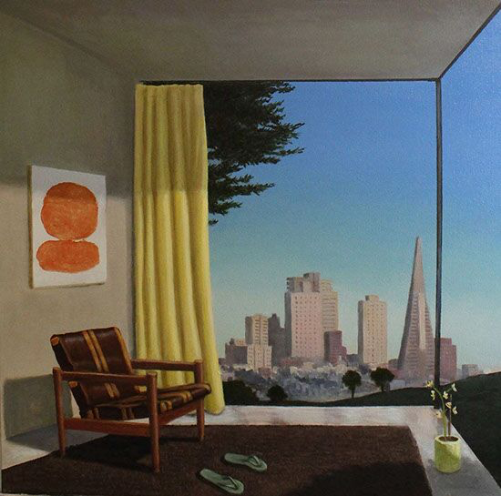 "Patrick St. Clair, ""When the Day is Done"", 24""x24"", oil on canvas"