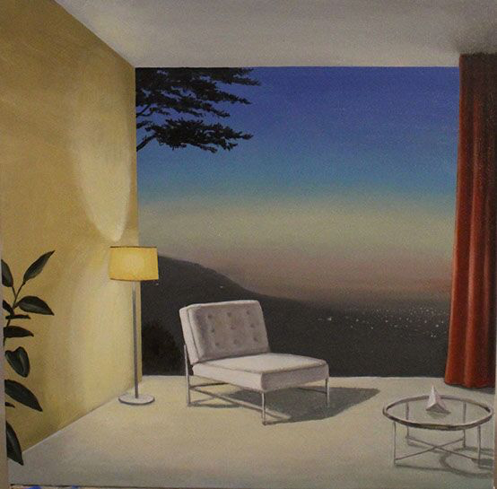 "Patrick St. Clair, ""Evening Window"", 24""x24"", oil on canvas"