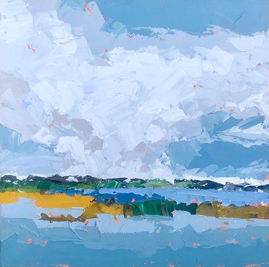"Paul Norwood, ""Coast Color"", 60""x60"", oil on canvas"