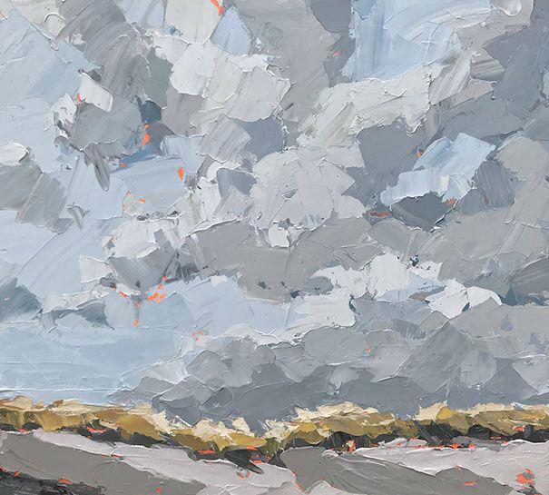 """Paul Norwood, """"Autumn Dunes"""", 55""""x50"""", oil on canvas"""