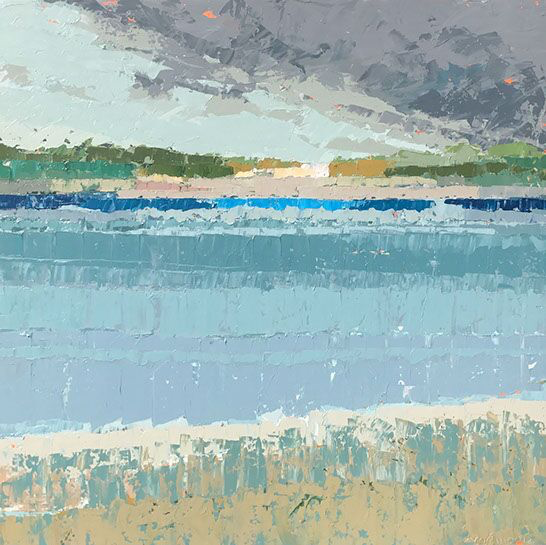 """Paul Norwood, """"Across the Cove"""", 60""""x60"""", oil on canvas"""