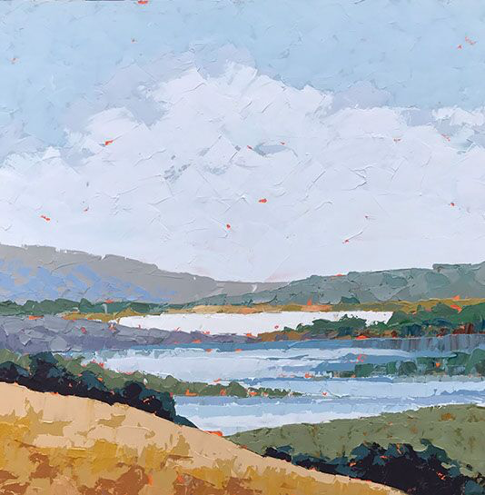 "Paul Norwood, ""West Marin"", 60""x60"", oil on canvas"