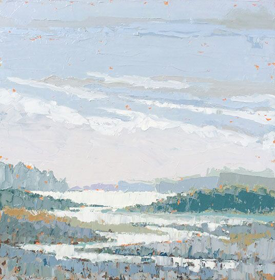 """Paul Norwood, """"Winter Lake"""", 60""""x60"""", oil on canvas"""
