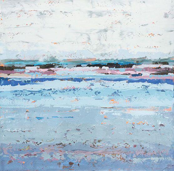 "Paul Norwood, ""Summer Shoreline"", 48""x48"", oil on canvas"