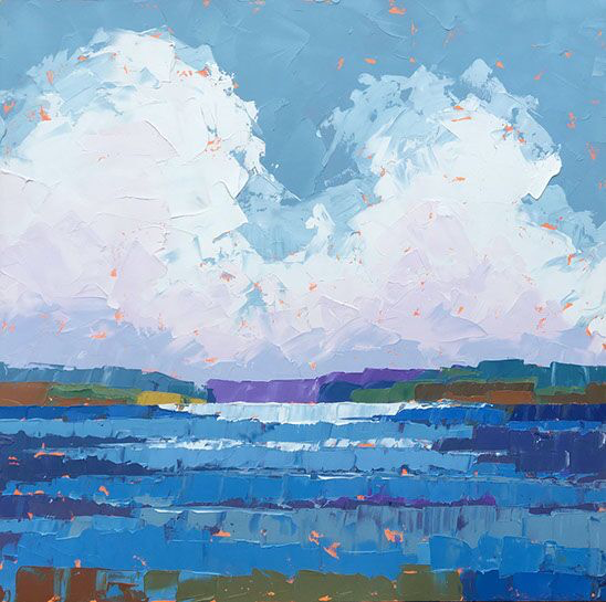 """Paul Norwood, """"Climbing Clouds"""", 48""""x48"""", oil on canvas"""