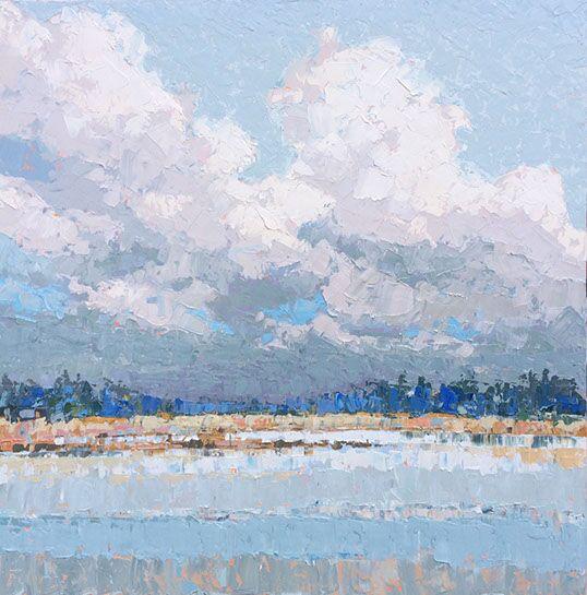"Paul Norwood, ""Gray Horizon"", 60""x60"", oil on canvas"