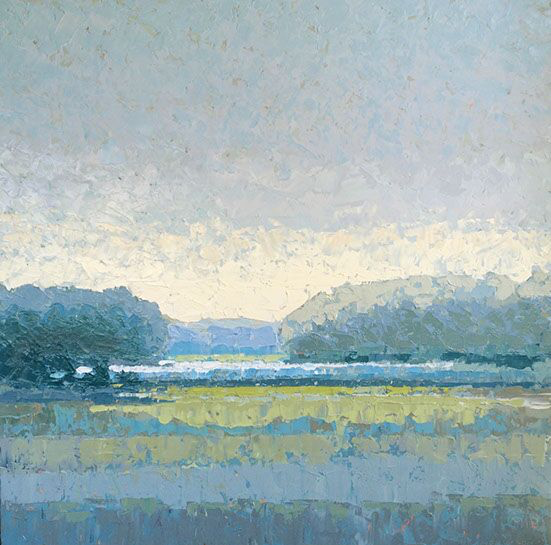 """Paul Norwood, """"Along the River"""", 48""""x48"""", oil on canvas"""