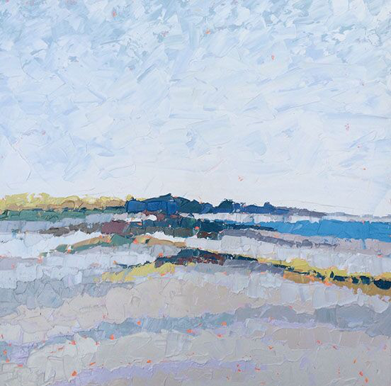 """Paul Norwood, """"Along the Dunes"""", 60""""x60"""", oil on canvas"""