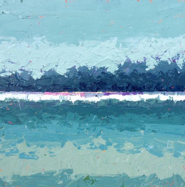 """Paul Norwood, """"Lake Mist"""", 48""""x48"""", oil on canvas"""