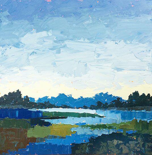 "Paul Norwood, ""Dark Creek"", 60""x60"", oil on canvas"
