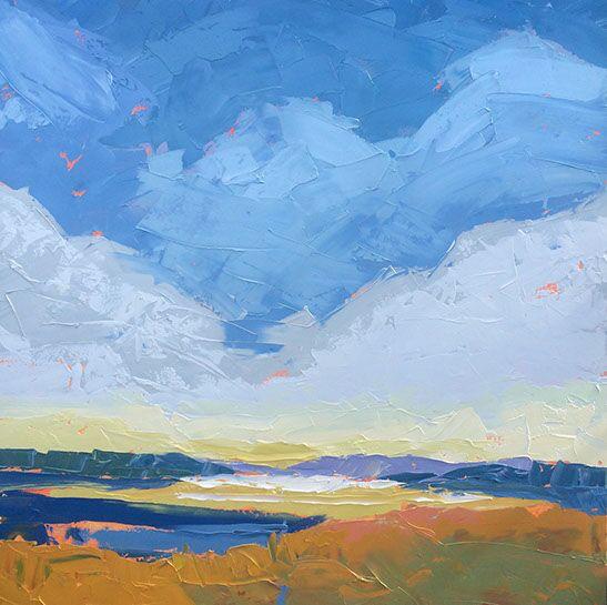 "Paul Norwood, ""Autumn on the Bay"", 60""x60"", oil on canvas"