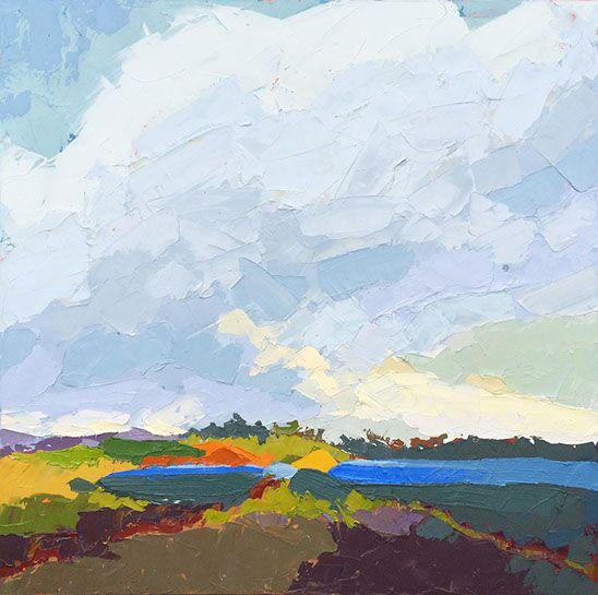 "Paul Norwood, ""Coastal Hues"", 56""x56"", oil on canvas"