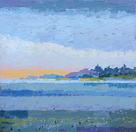 """Paul Norwood, """"Blue Morning"""", 60""""x60"""", oil on canvas"""