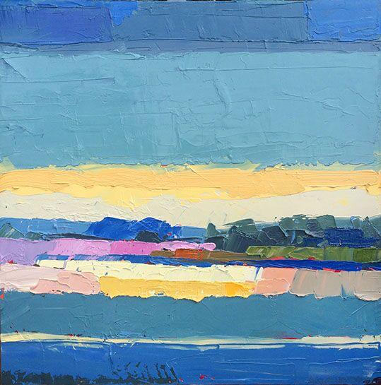 "Paul Norwood, ""Blue Sunset"", 31""x31"", oil on canvas"