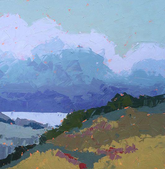 "Paul Norwood, ""The Headlands"", 62""x62"", oil on canvas"