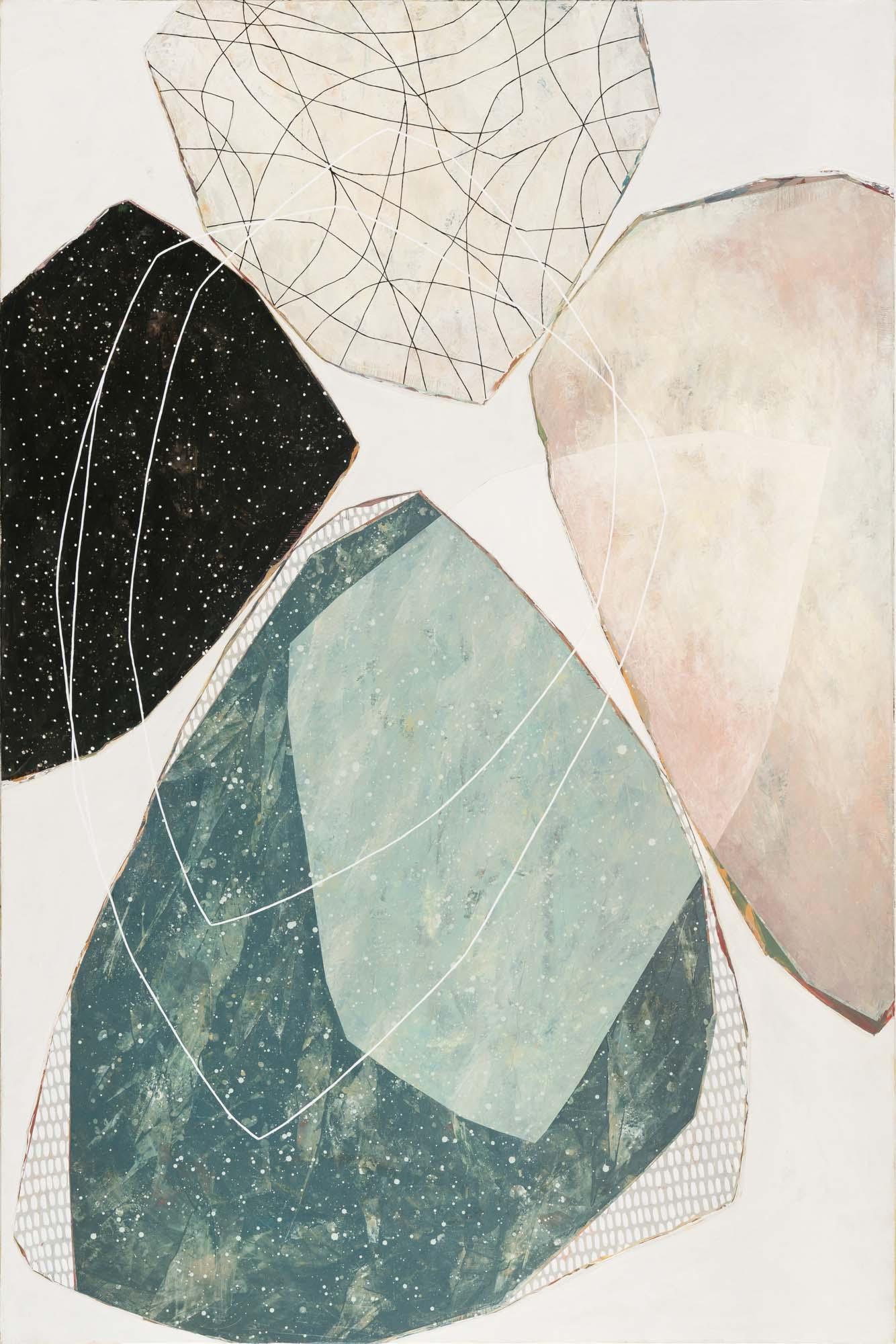 "Karine Leger, ""Tourne Encore"", 72""x48"", acrylic on canvas"
