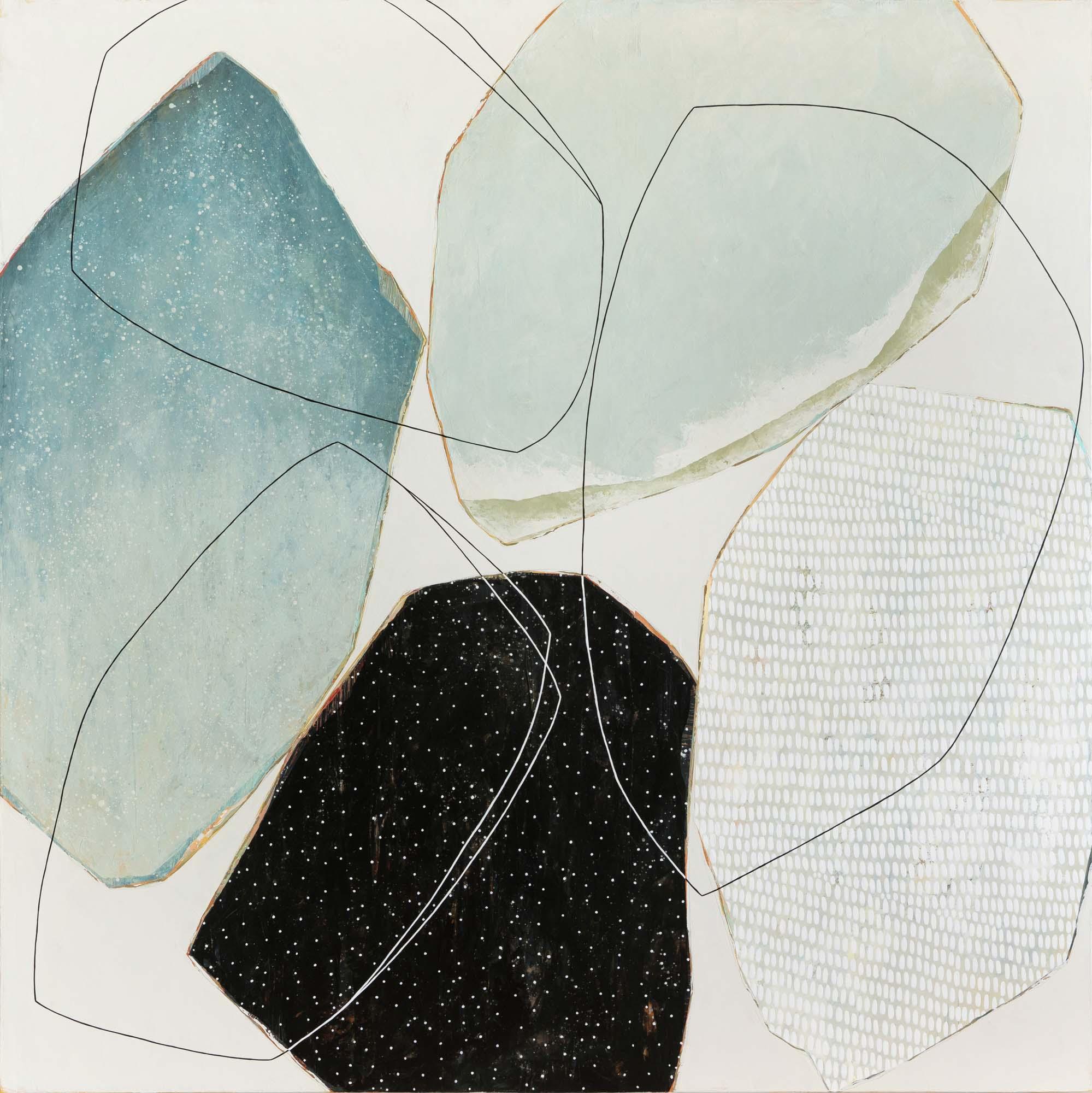 """Karine Leger, """"Que Tourne le Vent 3"""", 60""""x60"""", acrylic on canvas"""