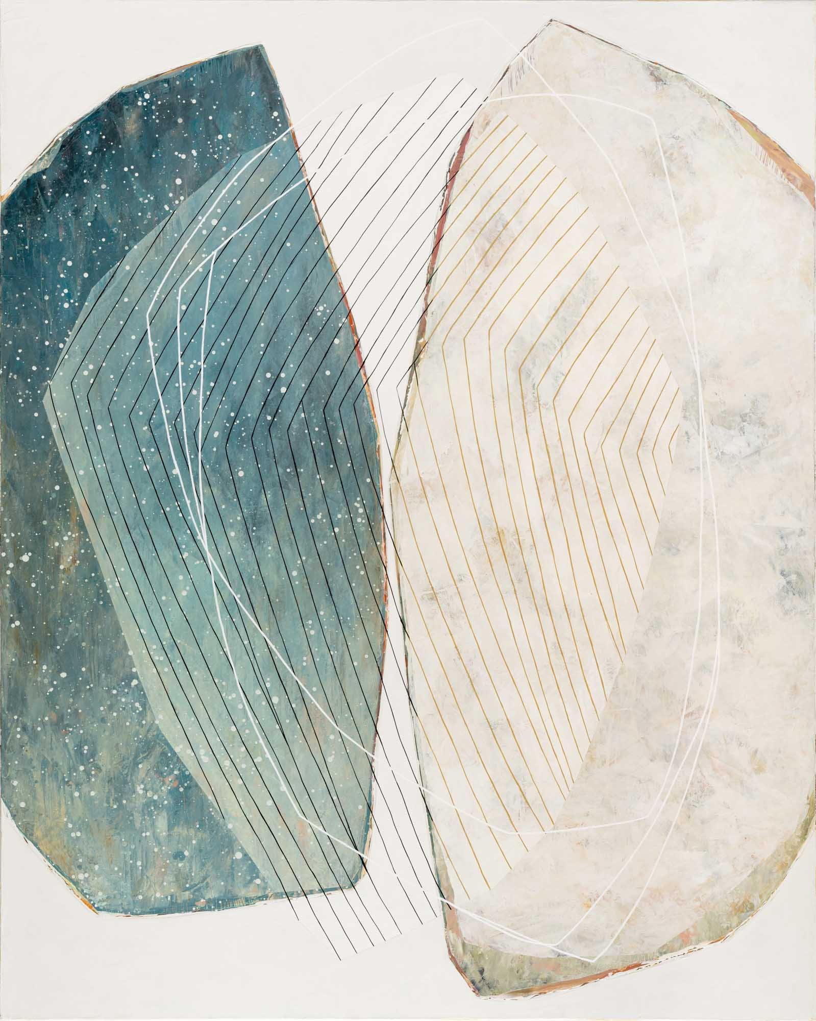 "Karine Leger, ""Gentle Wind"", 60""x48"", acrylic on canvas"