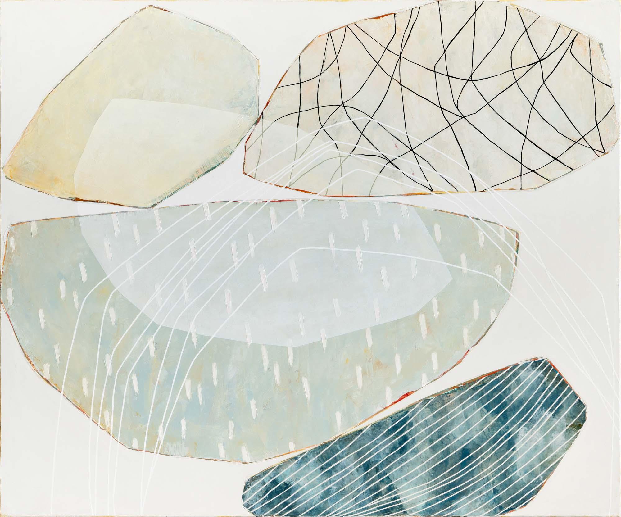 "Karine Leger, ""Mountain River 2"", 40""x48"", acrylic on canvas"