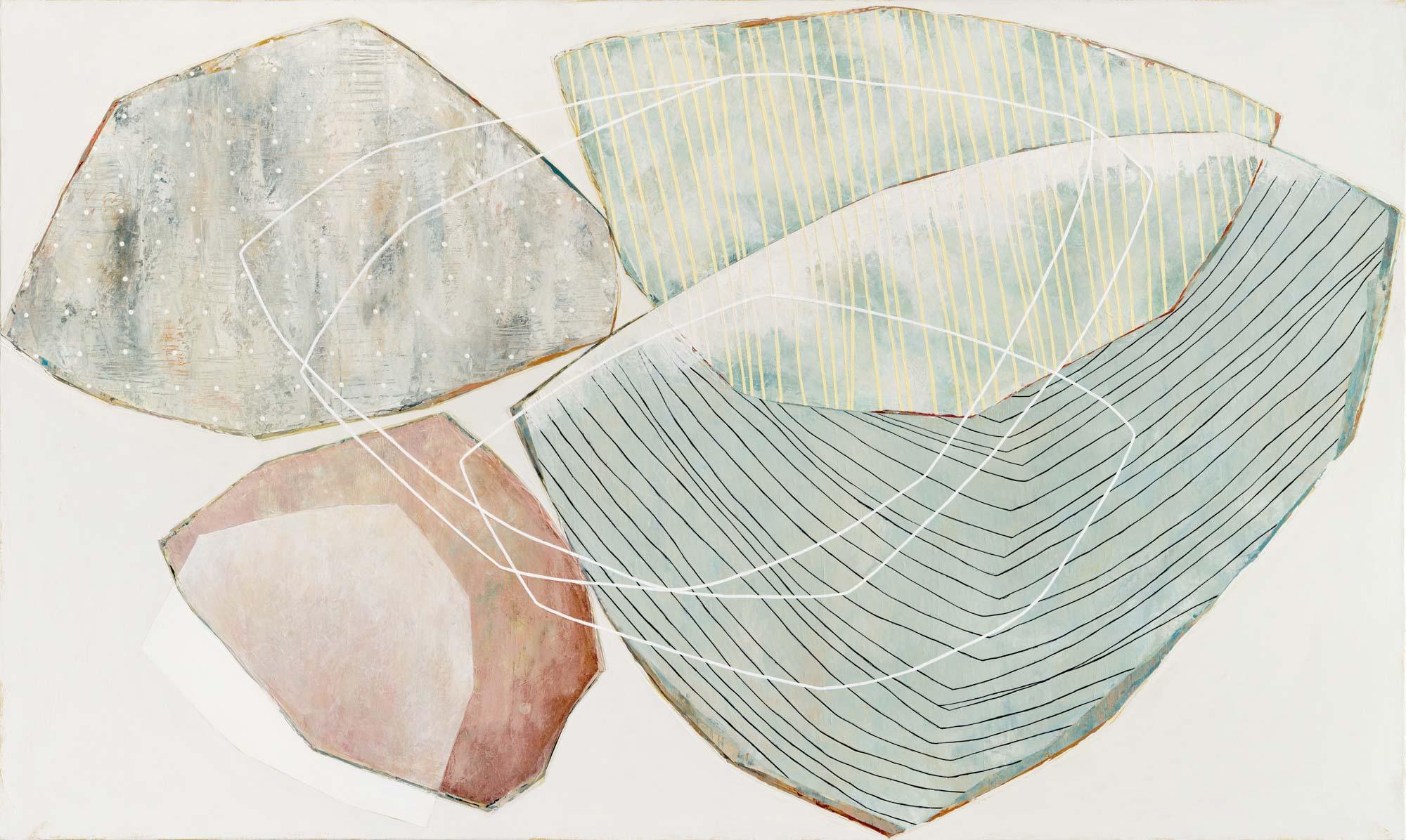 """Karine Leger, """"Lake Reflection 2"""", 36""""x60"""", acrylic on canvas"""