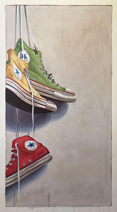 "Santiago Garcia, ""Converse 1024"", 61""x33"", oil on canvas"