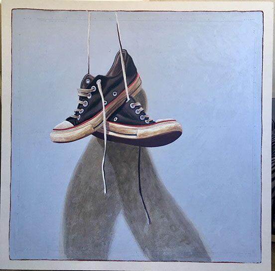 "Santiago Garcia, ""Converse 1034"", 48""x48"", oil on canvas"