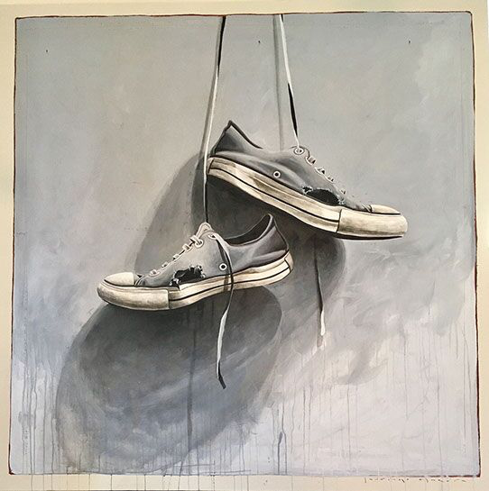 "Santiago Garcia, ""Converse 23"", 60""x60"", oil on canvas"