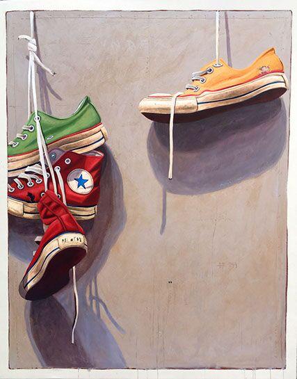 "Santiago Garcia, ""Converse 22"", 48""x60"", oil on canvas"