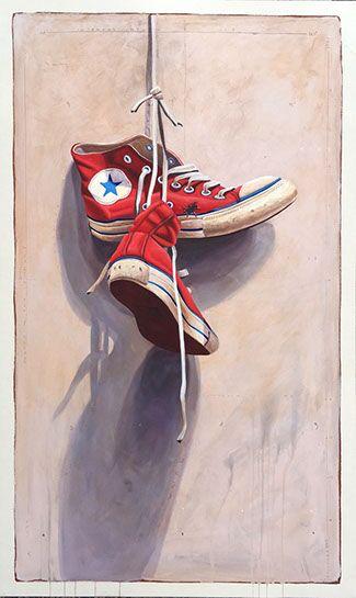 "Santiago Garcia, ""Converse 20"", 30""x52"", oil on canvas"