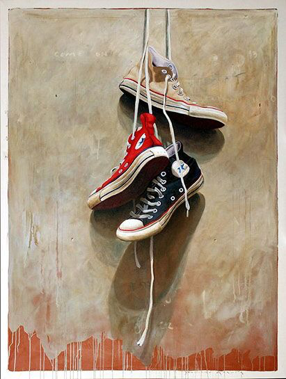 "Santiago Garcia, ""Converse 527"", 78""x60"", oil on canvas"