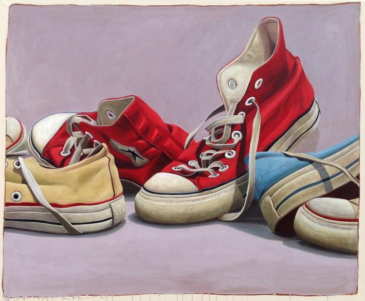 "Santiago Garcia, ""Converse 321"", 45""x60"", oil on canvas"
