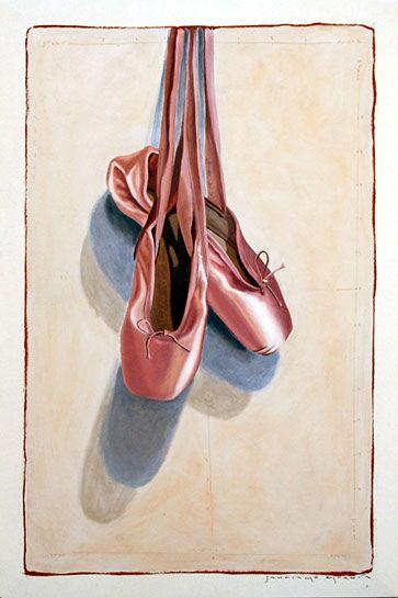 "Santiago Garcia, ""Sidney's Slippers"", 36""x24"", oil on canvas"