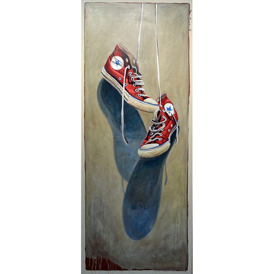"Santiago Garcia, ""Converse 521"", 40""x24"", oil on canvas"
