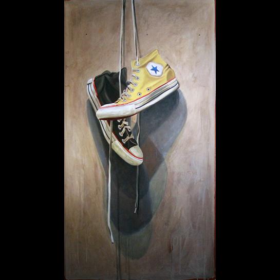 "Santiago Garcia, ""Converse 572"", 40""x24"", oil on canvas"